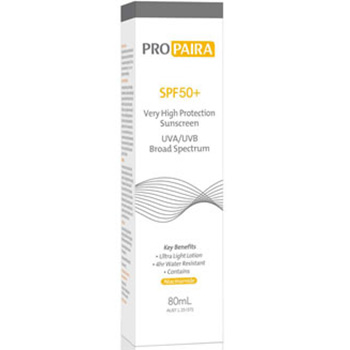 Propaira SPF50+ High Protection Sunscreen Lotion