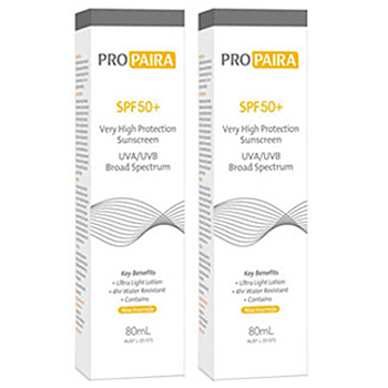 Propaira SPF50+ High Protection Sunscreen Lotion 2 x 80ml (Twin Pack)